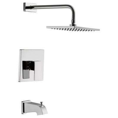 Marx Single Handle 1-Spray Tub and Shower Faucet in Chrome (Valve Included)