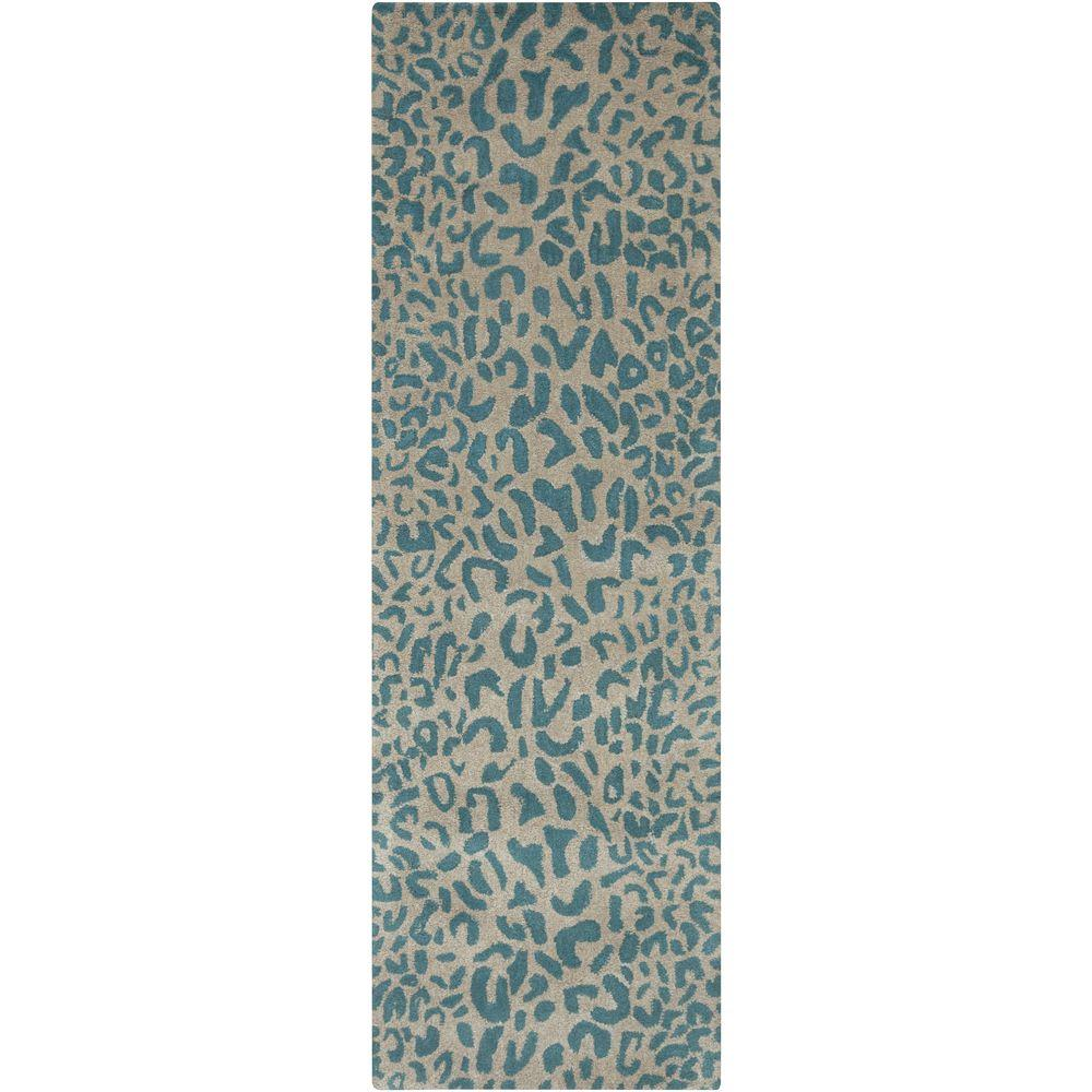 Bicauri Teal 2 ft. 6 in. x 8 ft. Indoor Rug