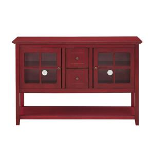Walker Edison Furniture Company Antique Red Buffet With Storage Hd52c4ctrd The Home Depot