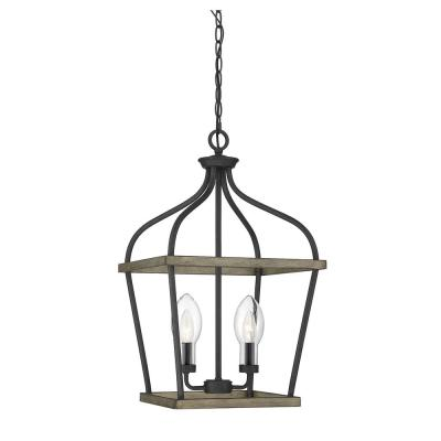 2-Light Weathervane Outdoor Hanging Chandelier