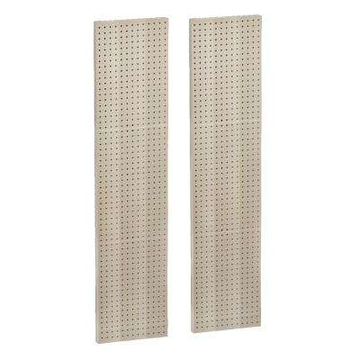 60 in. H x 13.5 in. W Almond Styrene Pegboard with One sided Panel (2-Pieces per Box)