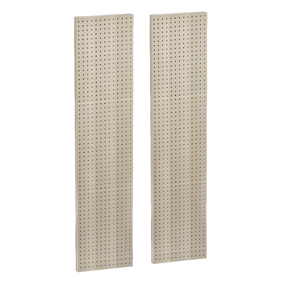 60 in. H x 13.5 in. W Almond Styrene Pegboard with