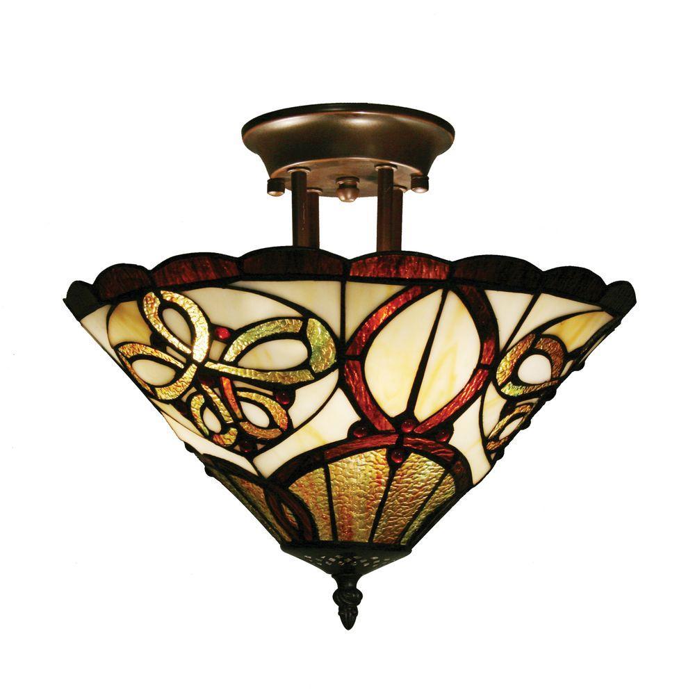 Tulen Lawrence 12 in. Chestnut Bronze Incandescent Floor Lamp