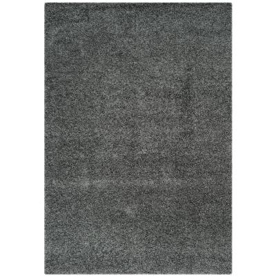 Laguna Shag Dark Gray 5 ft. x 8 ft. Area Rug