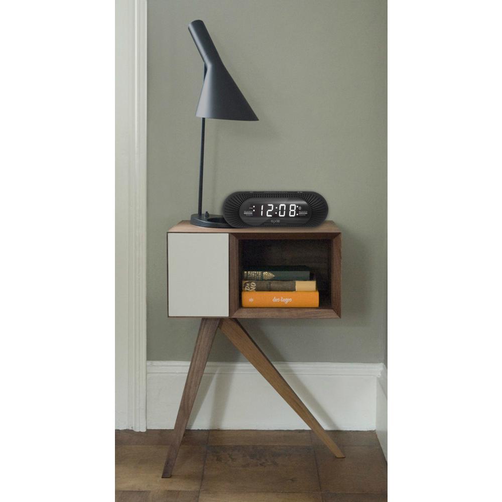 SXE White LED Capsule Bluetooth Speaker Clock Radio with Alarm by SXE
