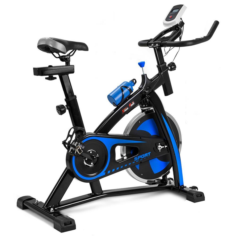 Flywheel Fitness Exercise Bike Bicycle Indoor 500 lbs. in Blue