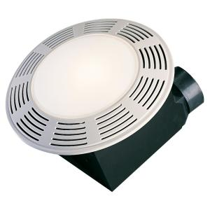 Air King Deluxe White 100 CFM 3.5 Sone Ceiling Exhaust Fan, HVI Certified with Overhead Light and Night Light by Air King