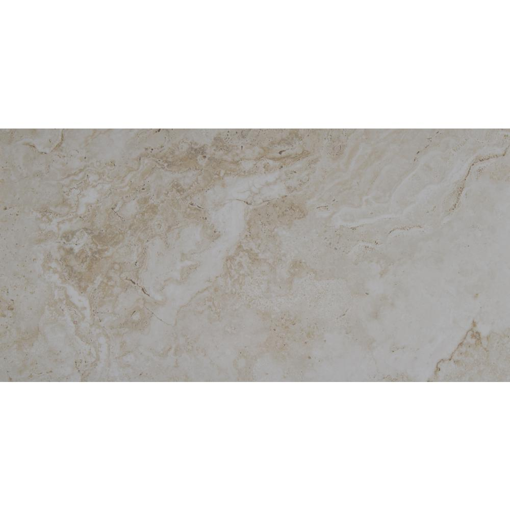 dff9986f2fec0c Starsus Almond 12 in. x 24 in. Polished Porcelain Floor and Wall Tile (2  sq. ft.)