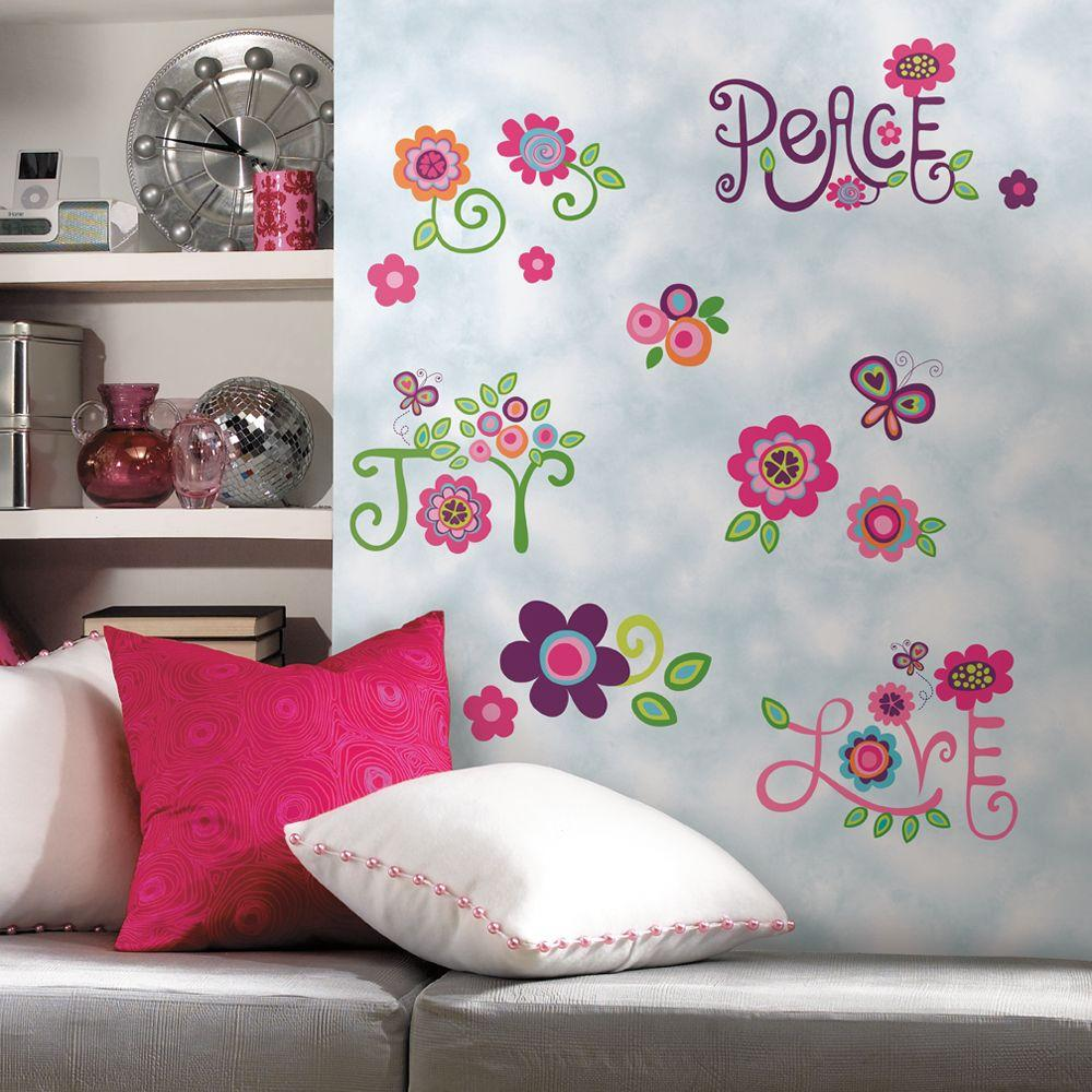 York Wallcoverings Wall In A Box Love Joy Peace Accent Wall