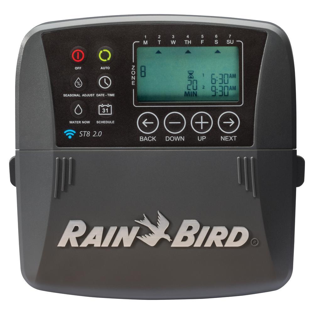 Rain Bird 8 Zone Smart Irrigation Wi Fi Timer Version 2 0 St8i 2 0 The Home Depot