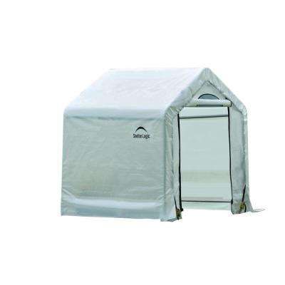 5 ft. x 3.5 ft. x 5 ft. Peak Clear Firewood Shed
