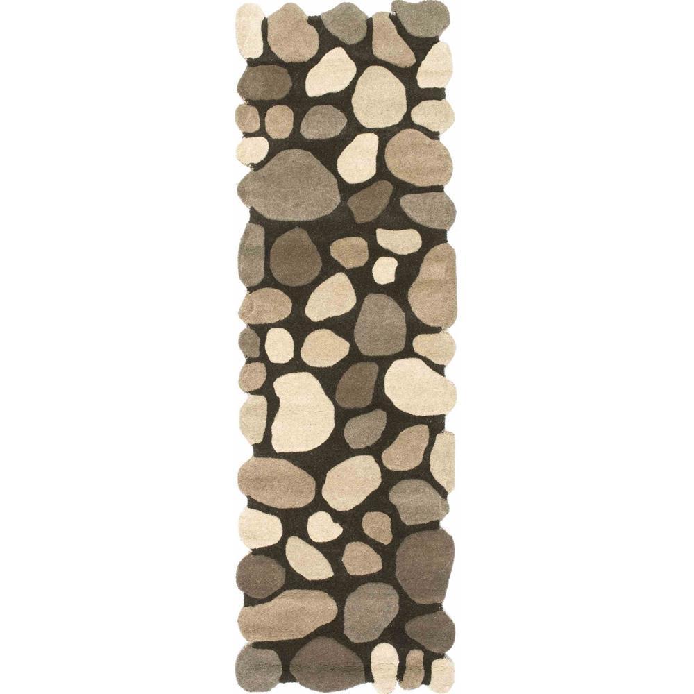 Pebbles Natural 3 ft. x 12 ft. Runner Rug
