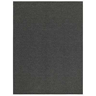 Oscar Collection Charcoal 5 ft. X 7 ft. Solid Area Rug