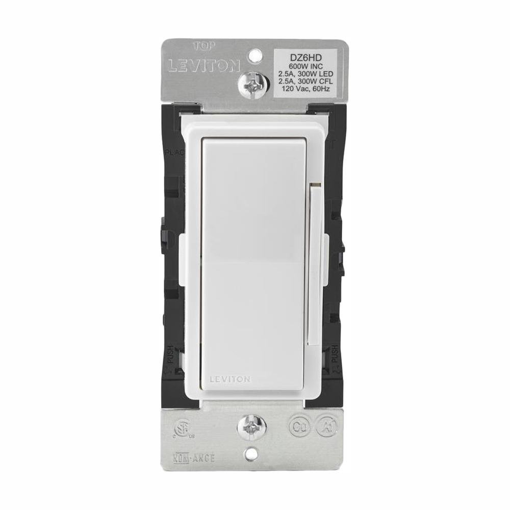 Leviton Decora Smart with Z-Wave Technology 600-Watt Dimmer, White/Light  Almond (2-Pack)