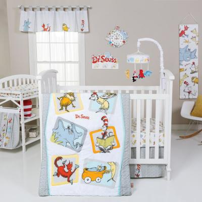 Dr. Seuss Friends 5-Piece Multicolored Geometric Polyester Crib Bedding Set