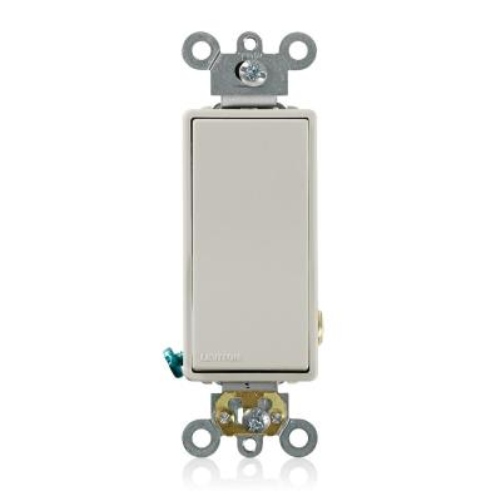 20 Amp Decora Plus Single Pole Switch, Light Almond
