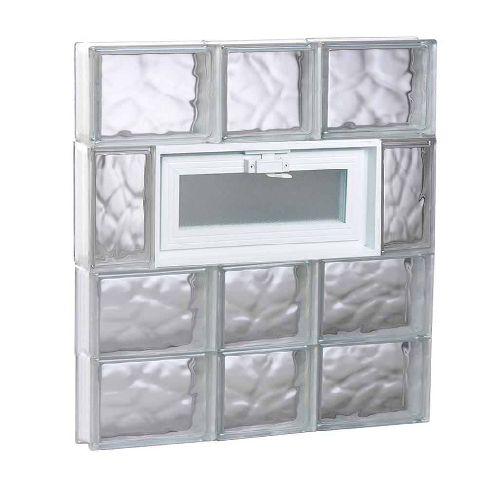 Clearly Secure 21.25 in. x 25 in. x 3.125 in. Frameless Wave Pattern ...