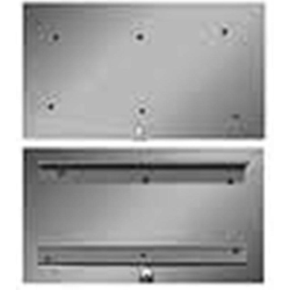 the forever cap 4 in x 9 in stainless steel ash dump door fadc49