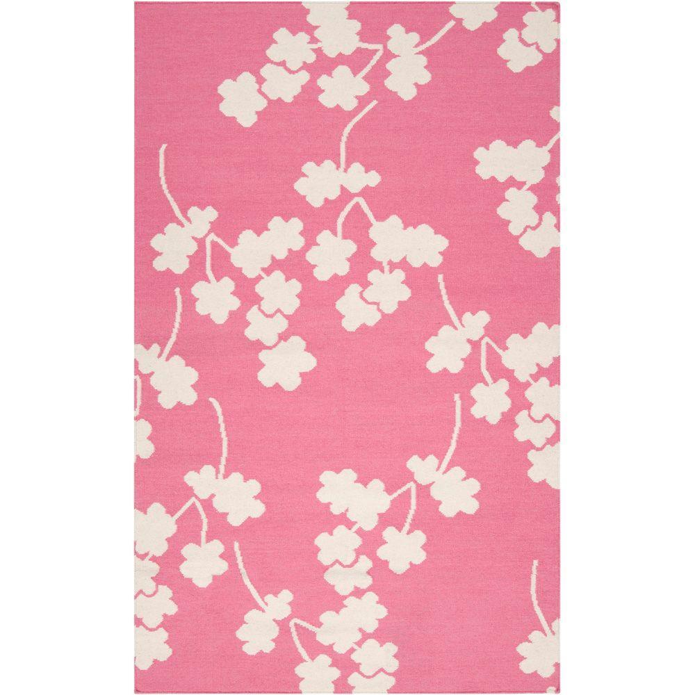 Surya Jill Rosenwald Flamingo Pink 3 ft. 6 in. x 5 ft. 6 in. Flatweave Area Rug
