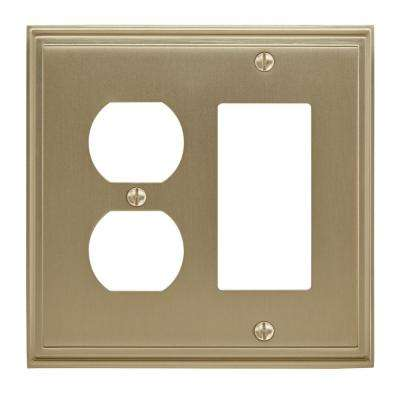 Mulholland 1 Rocker, 1 Receptacle Golden Champagne Wall Plate