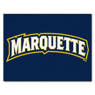 NCAA Marquette University Blue 3 ft. x 4 ft. Area Rug