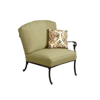 Edington Right Arm Facing Patio Sectional Chair with Celery Cushion