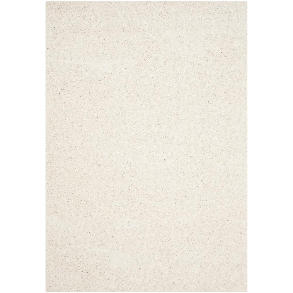 Safavieh Athens Shag White 5 ft. 1 in. x 7 ft. 6 in. Area Rug