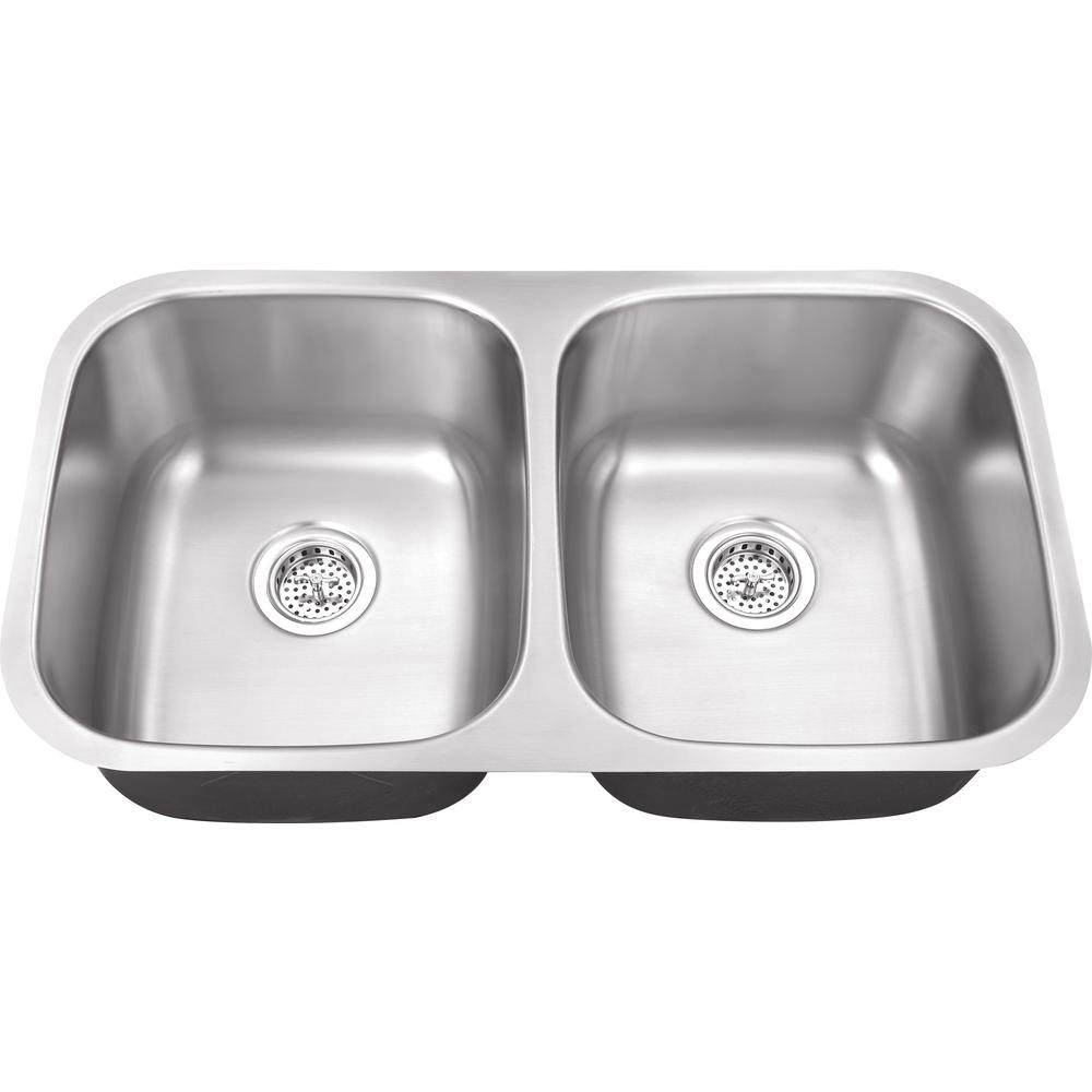 Ipt Sink Company Undermount 29 In 18 Gauge Stainless Steel Kitchen Brushed