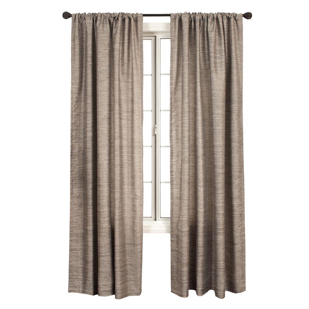 Home Decorators Collection Semi-Opaque Shell Borgata Rod Pocket Curtain - 54 in.W x 96 in. L