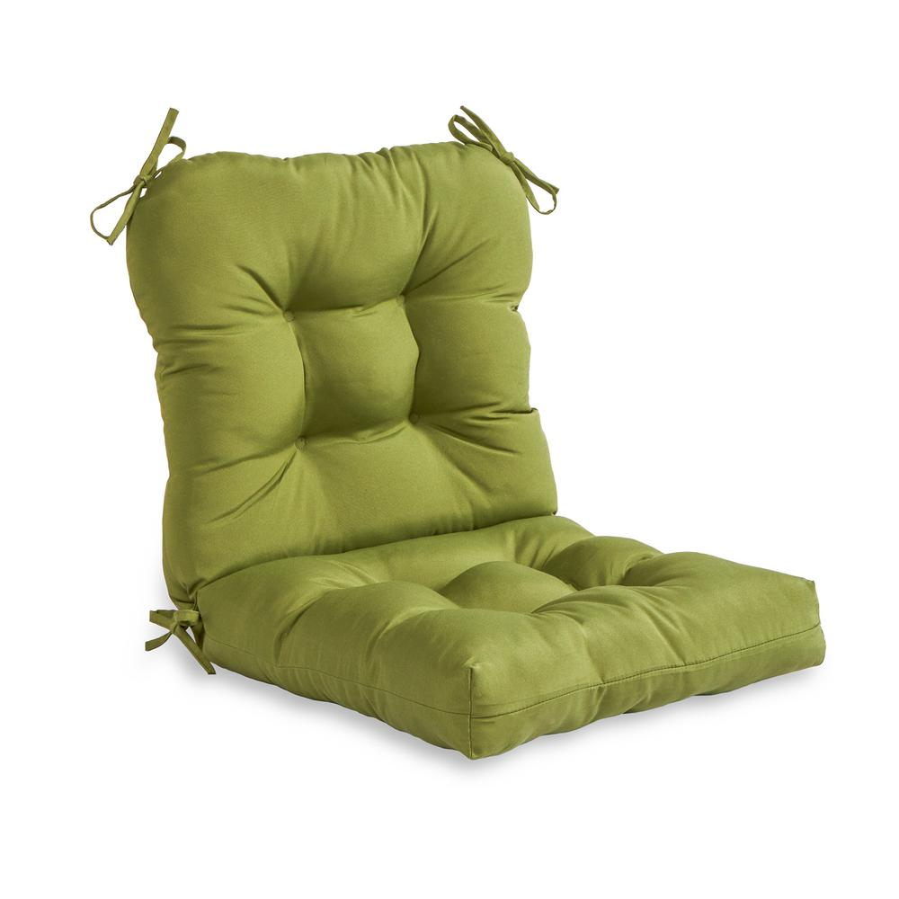 Greendale Home Fashions Solid Summerside Green Outdoor Dining Chair Cushion