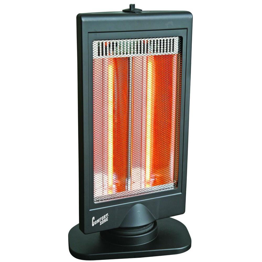 Comfort Zone 400/800-Watt Flat Panel Halogen Infrared Electric Portable Heater-DISCONTINUED