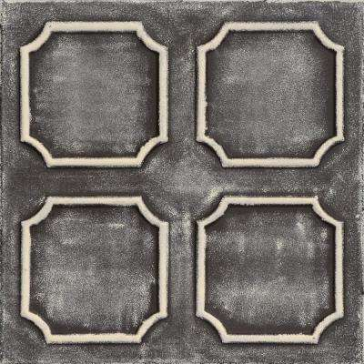 Bostonian 1.6 ft. x 1.6 ft. Foam Glue-up Ceiling Tile in Brown Beige