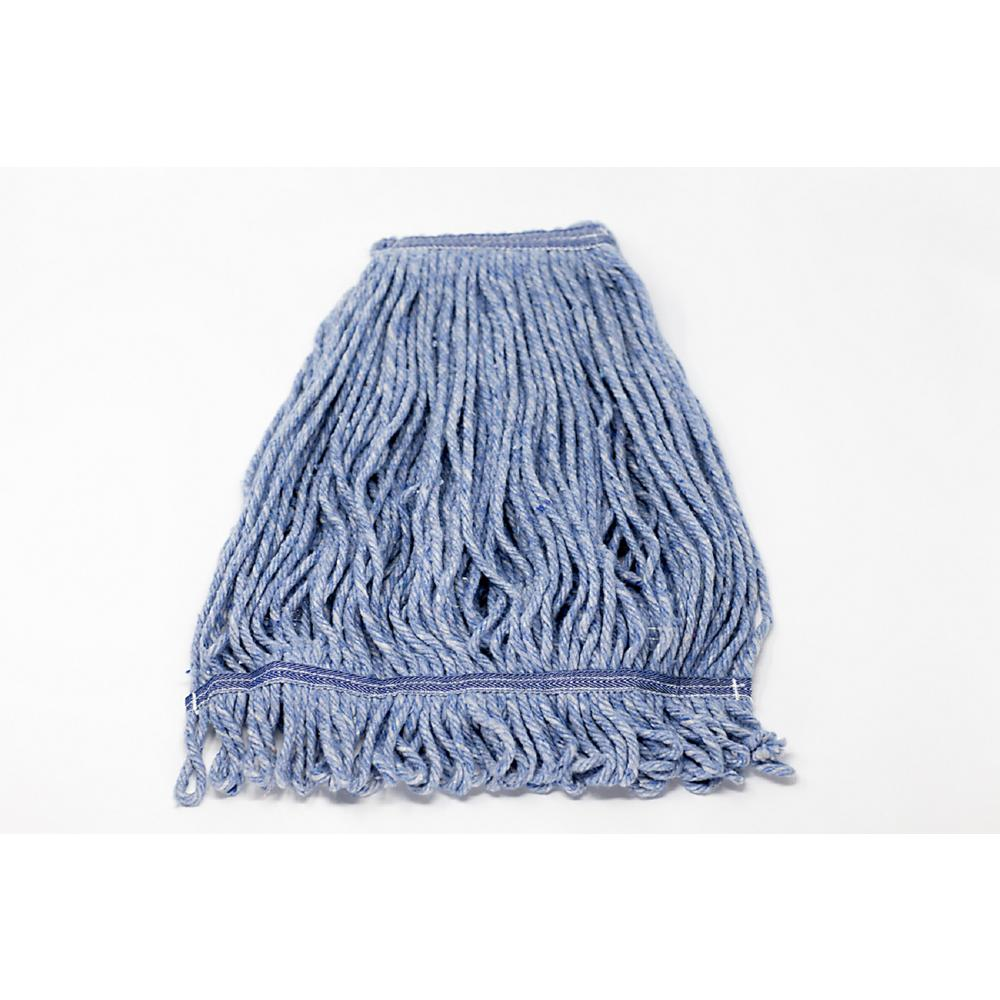 Mop Head Replacement, Wet Industrial Blue Cotton Looped End String Cleaning