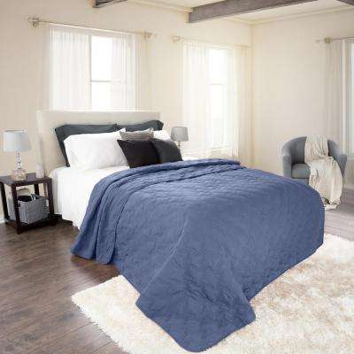 Classic Navy Polyester Twin Quilt