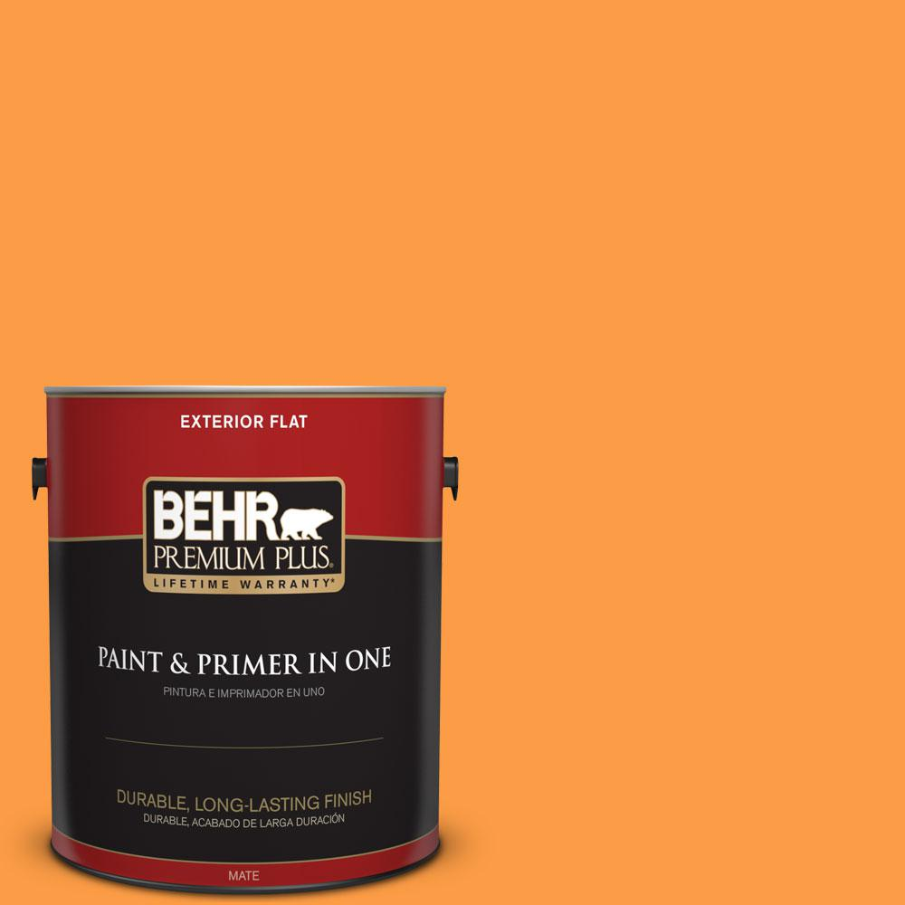1-gal. #P240-6 Exotic Blossom Flat Exterior Paint