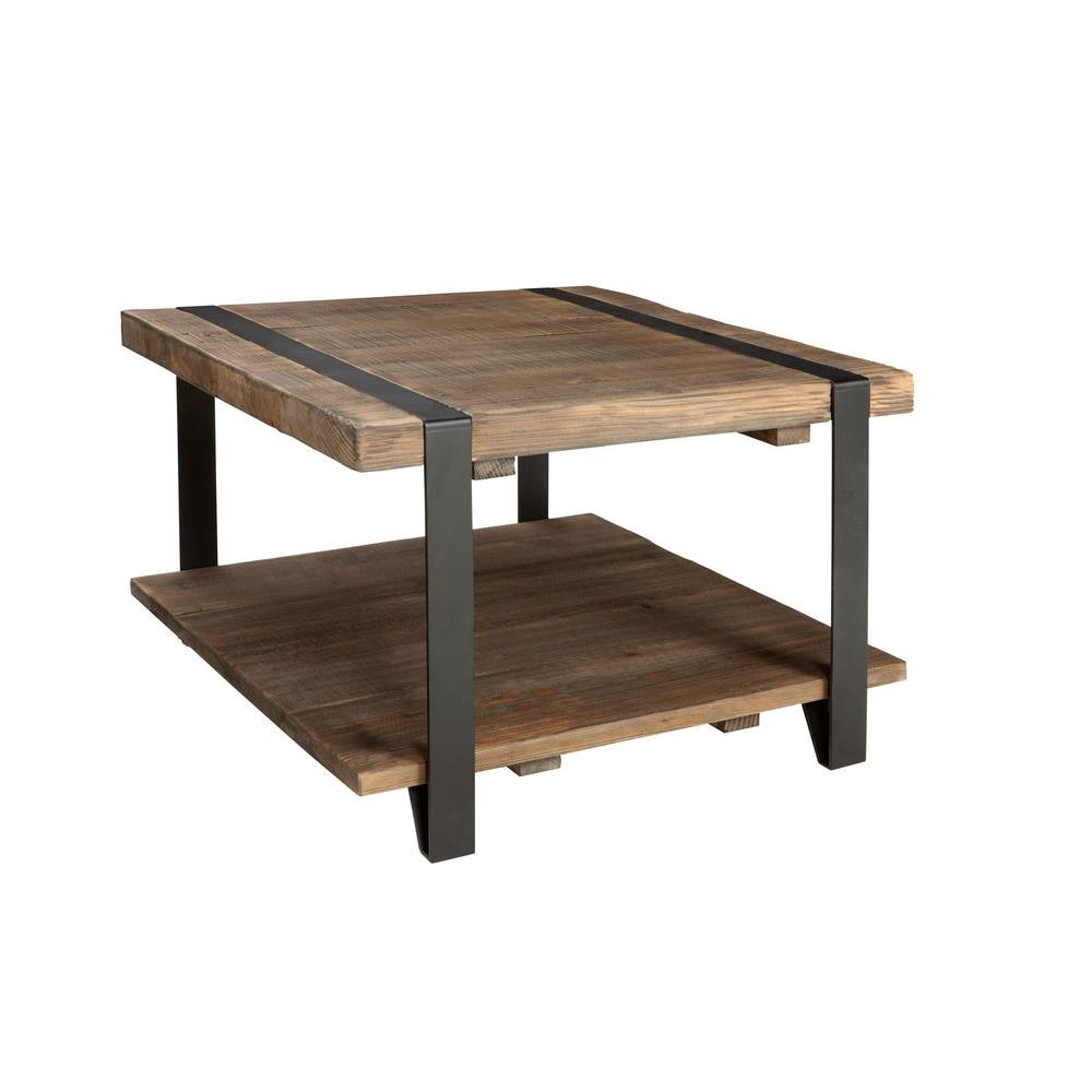 Alaterre furniture modesto rustic natural storage coffee table amsa1320 the home depot Home furniture coffee tables