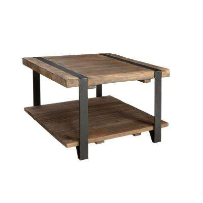 Modesto Rustic Natural Storage Coffee Table