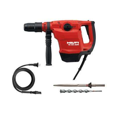 120-Volt SDS-MAX TE 50-AVR Corded Concrete Rotary Hammer Drill with Pointed Chisel and TE-YX SDS-MAX Style Drill Bit