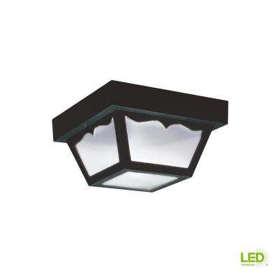 Outdoor Ceiling Clear 1-Light Outdoor Flush Mount with LED Bulb