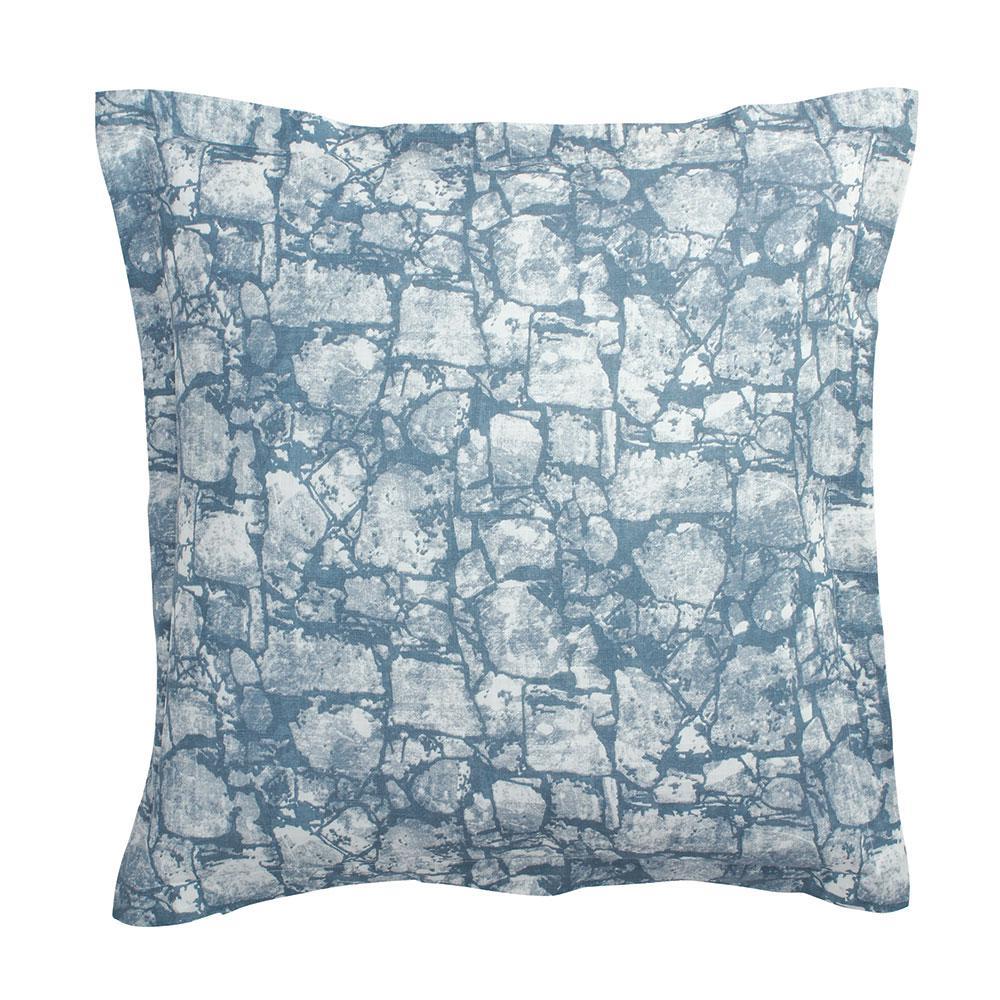 CstudioHomebyTheCompanyStore Cstudio Home by The Company Store Bluestone Blue Geometric Cotton Euro Sham