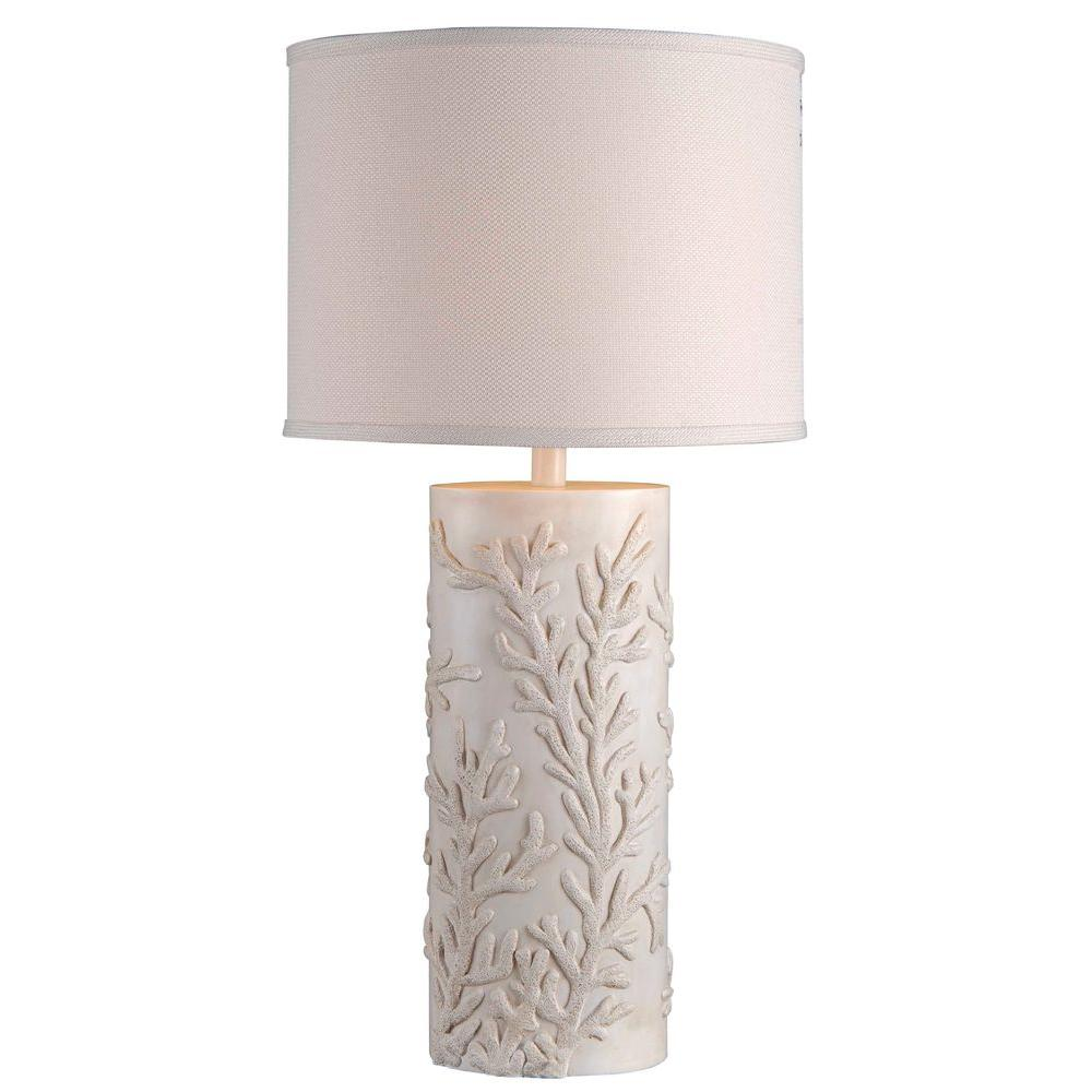 Kenroy home reef 30 in antique white table lamp 32267awh the home antique white table lamp aloadofball Images