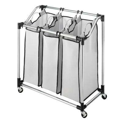 Chrome Laundry Hamper Sorter