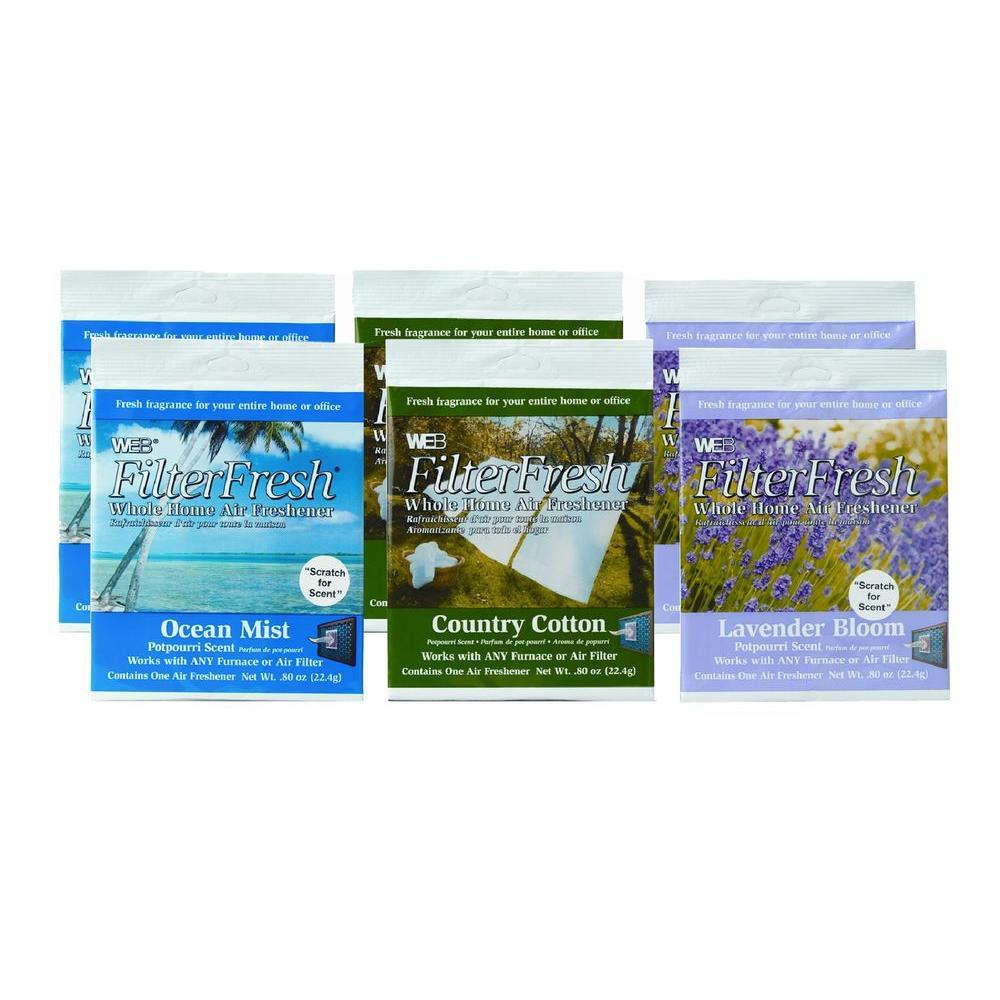 Filter Fresh Whole Home Air Freshener Spring Assortment (6-Pack)