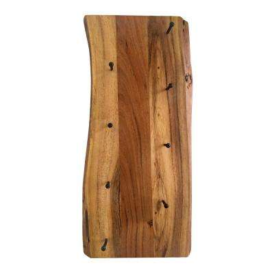 Alpine Live Edge 4 in. L Natural Wood Key Holder