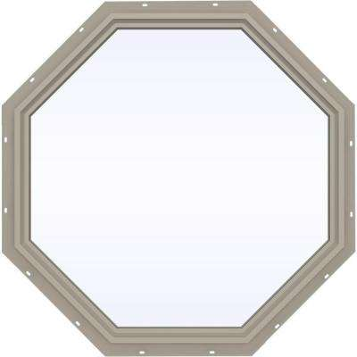 47.5 in. x 47.5 in. V-4500 Series Fixed Octagon Vinyl Window - Tan
