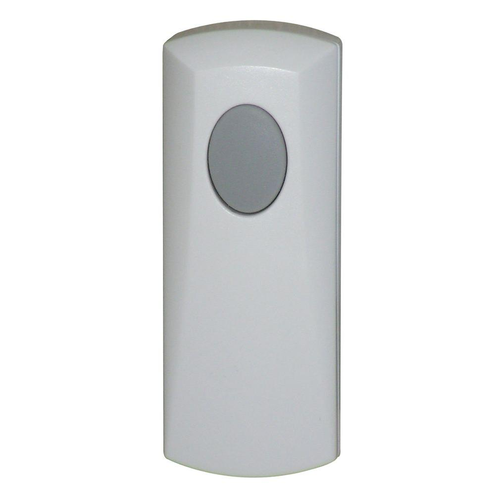 Add-on / Replacement Wireless Door Chime, White, Push Button-Compatible