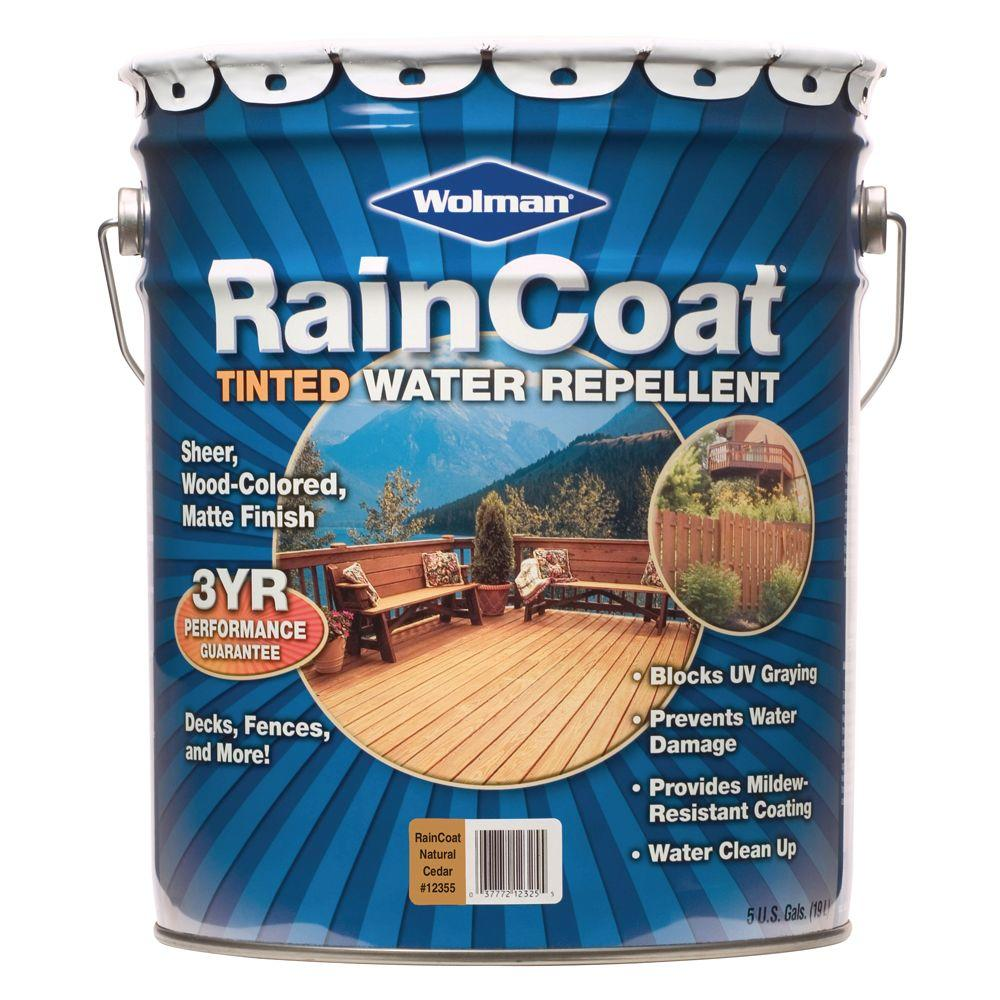 RainCoat Natural Cedar 5-gal. Water-Based with Modified Oils Water Repellent-DISCONTINUED