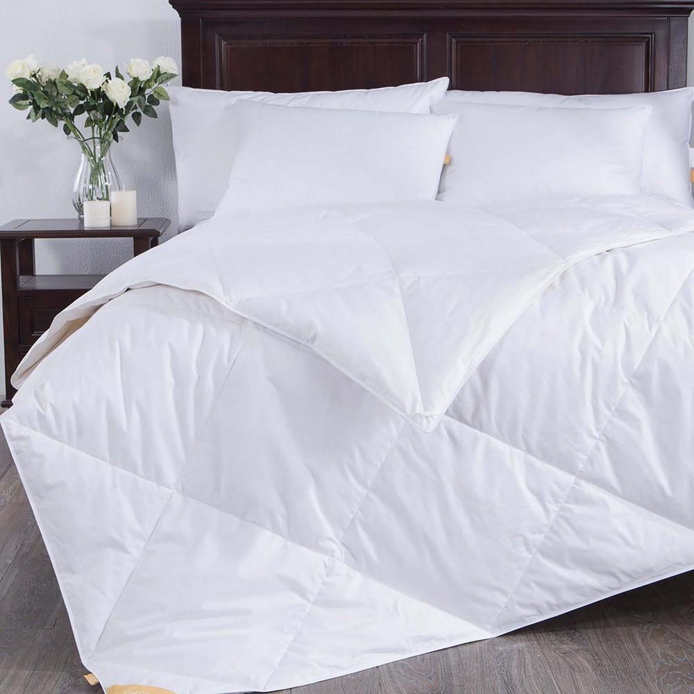 Light Warmth White Full/Queen Down Comforter