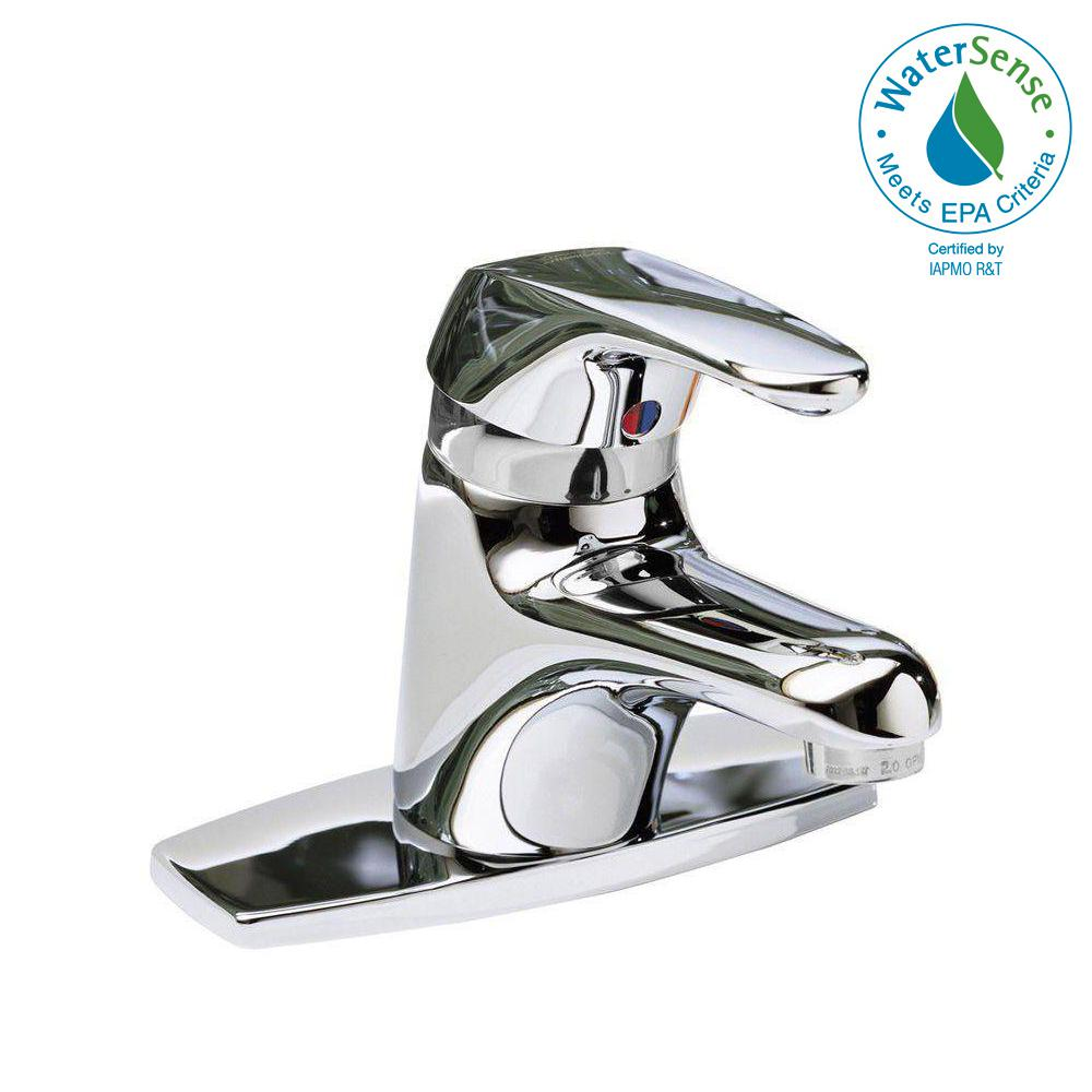 Seva 4 in. Centerset Single Handle Bathroom Faucet in Chrome Less