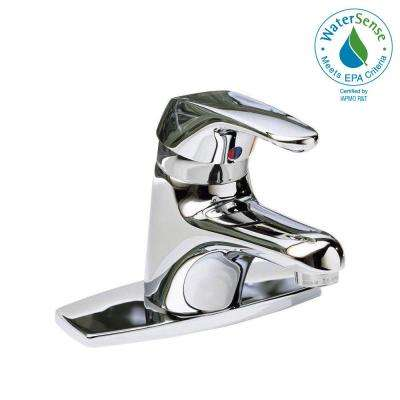 Seva 4 in. Centerset Single Handle Bathroom Faucet in Chrome Less Pop-Up Drain